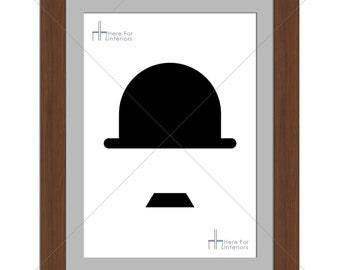 Minimalistic Charlie Chaplin Movie Greats Photographic Print - Various Sizes - Gift Idea