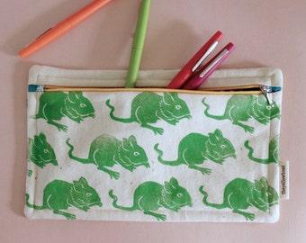 Organic canvas pencil case mouse