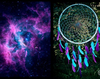 Extra Large Dream Catcher - Galaxy Dreams - Bohemian Decoration, Interior Design, Tribal Decor, Dreamcatcher
