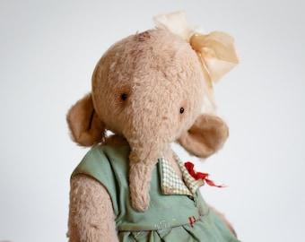 Stuffed Animal Elephant Kira Plush Mohair Soft Toy