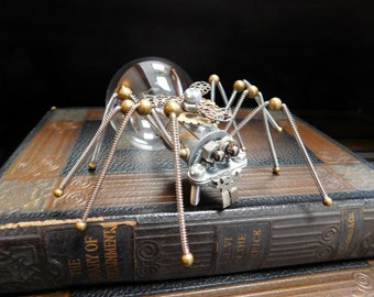 Steampunk Spider - Steampunk Sculpture - Steampunk Figurine - Steampunk Art