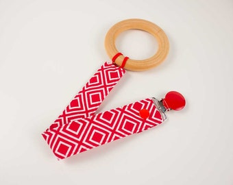Red Diamond pacifier clip