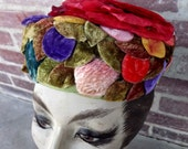 1950s fruit and flowers hat