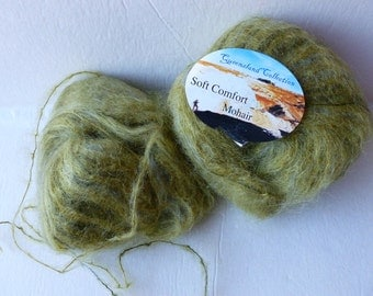 Yarn Sale  -  Olive 613 Soft Comfort Mohair by Queensland