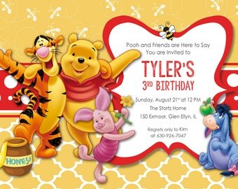 Printable Winnie the Pooh Birthday Invitation