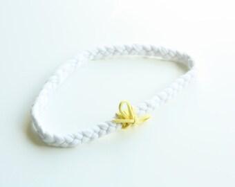 Lemonade Braided Jersey Headband - Boho Headband
