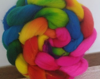 Wool Roving- Over the Rainbow