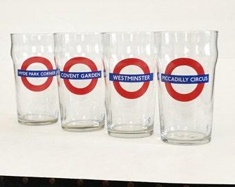 Vintage Underground Pint Glasses