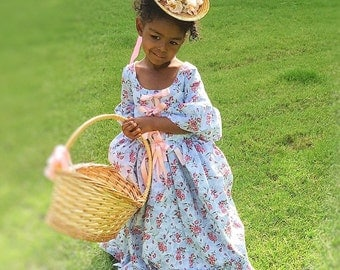Toddler Girls Georgian Colonial Marie Antoinette Party Dress