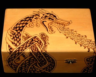 Celtic Knot Dragon Box