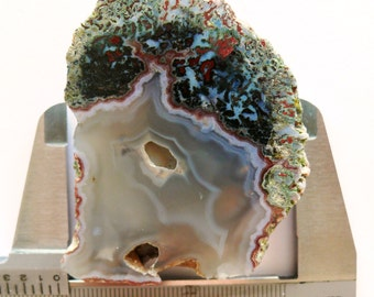 Hungarian Moss Chalcedony Agate - Half Piece Specimen or Lapidary Material (AG-GYT85)