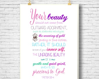 PRINTABLE Bible Verse Scripture Printable Home Decor Art
