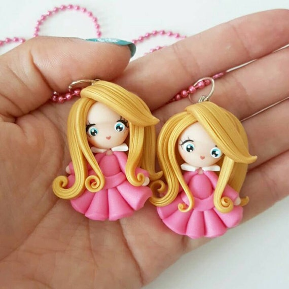 LIMITED EDITION Aurora Necklace, Princess, Polymer Clay Pendant, Necklace, Cosplay, polymer clay, clay pendant, Kawaii, doll, charm