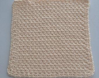 Cream Dish cloth/Wash cloth