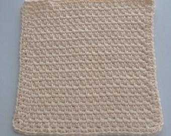 Buy 3 get 1 free. Cream Dish cloth/Wash cloth- Clearance priced