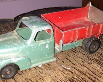 Antique Hubley Truck Vintage Diecast Dodge Dump Trunk Kiddietoy Lancaster PA