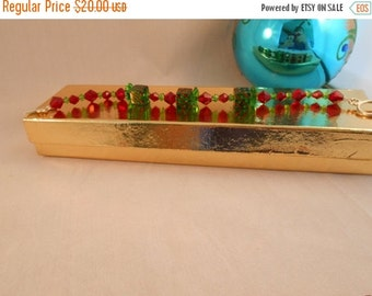 ON SALE Red and green crystal present bracelet,crystal bracelet,present bracelet