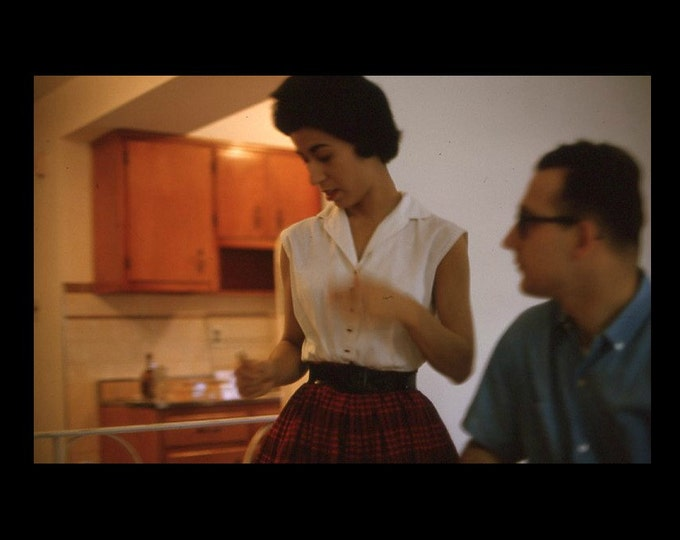 35 mm Slide/Transparency, Kodachrome, 1964: Couple in Kitchen (6116-12)