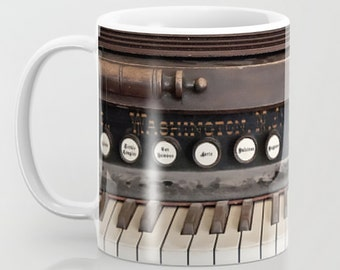 Coffee Mug Ceramic Mug Dusty Antique Vintage Piano