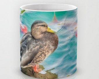Coffee Mug Ceramic Mug Duck Koi Water Pond