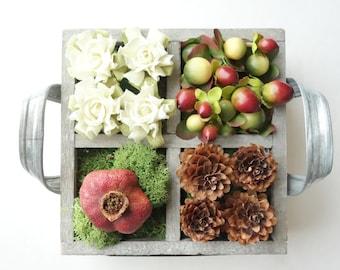 ON SALE! Floral Arrangement, Specimen Box, Natural Decoration, Modern Floral, Flower Box, Woodland Decor, Gift for Her, Gift Under 50