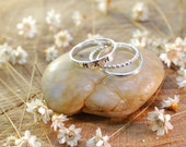 Hand Stamped Personalized Sterling Silver Stacking  Rings