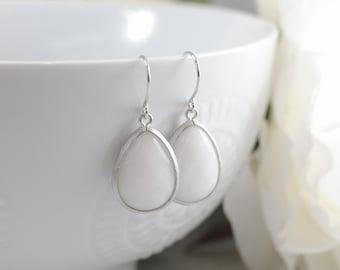 The Maya Earrings - White