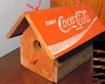 Coca Cola Wooden Bird House