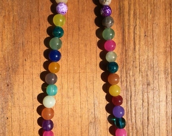 Multi color gemstone necklace