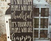 Thankful Wall Decor - Wooden Sign - Thanksgiving Wall Art - Rustic Wood Signs - Wall Hanging Decor - Rustic Autumn Decor - Thankful Sign
