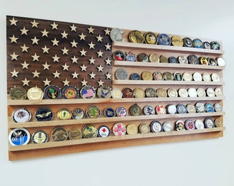 40 Air Force Emblem Challenge Coin Holder By Woodsimplymade