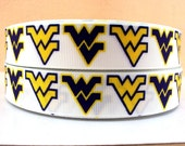"7/8"" West Virginia University Ribbon - 3 yards"