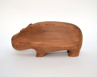 Vintage Hippo | Wooden | For Baby And Child