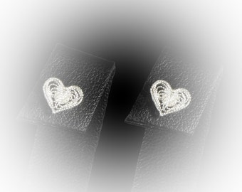 The highlight of heart Silver earrings