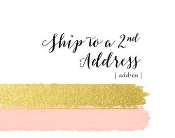 Shipping to more than one address - add this listing to your order