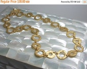 50% OFF Chain Necklace Modern Matte Gold 16 to 17 Inch with Extender Circles Flat Open Jewelry Jewellery Simple Minimalist