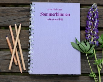 "Recycled Book Journal Tartuensis College ""Summer Flowers"" from library discard"