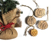 Custom Wood Cut ornaments