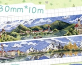 Pre-ORDER+++++++ 1 Roll of Limited Edition Washi Tape -By the Beautiful Blue Danube