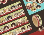 1 Roll of Japanese Limited Edition Amine Washi Tape- Characters from Attack on Titan Shingeki no Kyojin