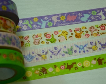 1 Roll of Japanese Anime Washi Tape (Pick 1) : Pokemon