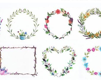 1 Roll of Limited Edition Washi Tape:  Lovely Floral Wreath