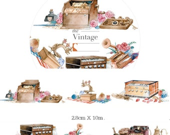 1 Roll of Limited Edition Washi Tape : The Vintage