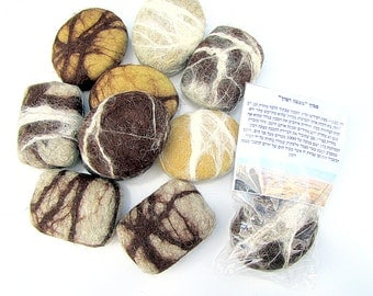 """Felted Soap Unique Gift """"SABON MITZPE RAMON"""". Sponge-soap that looks like stone. This is a souvenir from Israel."""