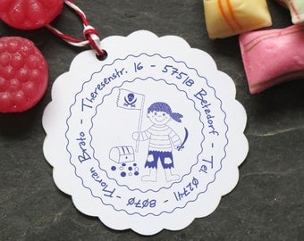 Stamp personalized pirate kids stamp ø 40 mm