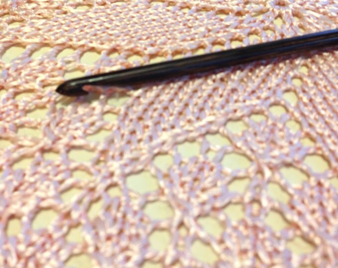 Size 7 Tunisian Crochet Hook - Laurel Hill Forest Palm Exotic Wood Crochet Hook Size 7/4.50 mm {that lovely size between a G and H hook}