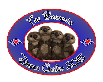Disney Cruise Magnet Custom Personalized Finding Dory Sea Otters Cabin Door Magnet