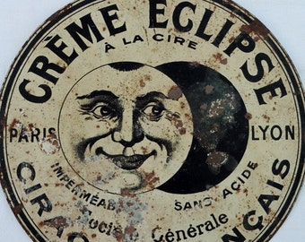 French Vintage , Vintage Signs, Vintage Tinplate, French Shop, Man In The Moon,  Paris Epicerie , Old French Shop,Tinplate ,   Shop Signs
