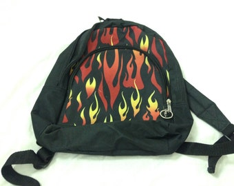90s flame fire backpack