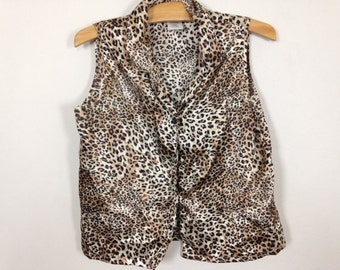 cheetah leopard top size S